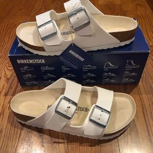 Birkenstock Arizona white Birko floor new
